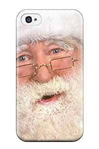 Pretty QHUTflw1214MXmhZ for iphone 4/4s Case Cover/ Holiday Christmas Series High Quality Case