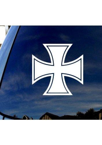 Iron Cross Decal - Iron-Cross - White Decal - 3