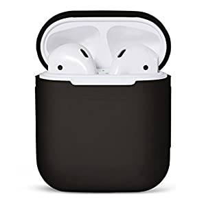 PodSkinz AirPod Case [Front LED Visible] Protective Silicone Cover and Skin Compatible with Apple AirPods Case 2 & 1…
