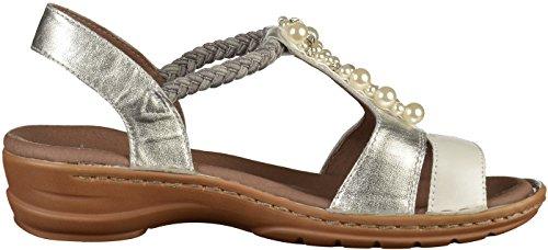 Hawaii Sandals 4 weiss ara 06 Grey T UK Silber Grey Bar WoMen fwYgq1xI5