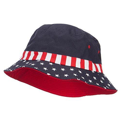 USA Flag Bucket Hat - Flag L -