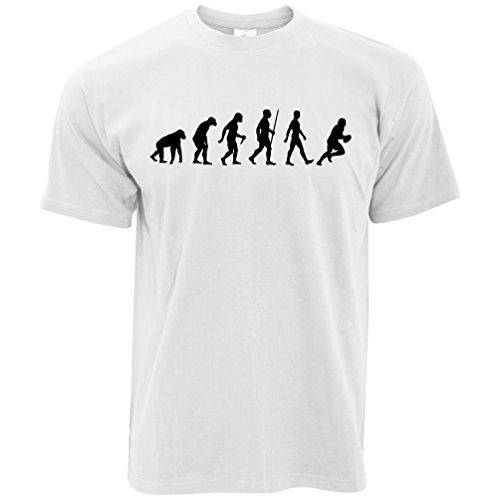 League Club - Evolution of Rugby England Team Sports Union Premier League Club T Shirt White Large