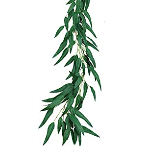PARTY JOY Artificial Greenery Garland Faux Silk Eucalyptus Vines Wreath Wedding Backdrop Wall Decor Flower Arrangement 11