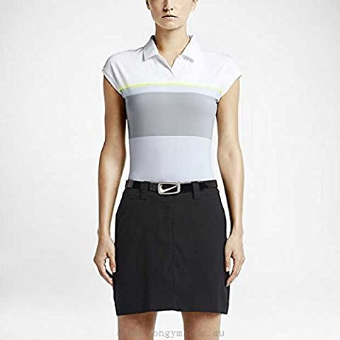 Nike Women's Sunset Stripe Golf Polo (XL, Grey/White)