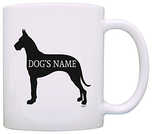 Personalized Dog Owner Gift Great Dane Add Dog's Name Pet Dog Lover Gift Coffee Mug Tea Cup White