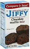 Jiffy, Chocolate Muffin Mix, 7oz Box (Pack of 6)