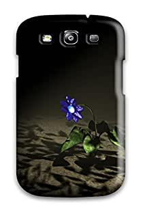 Durable Case For The Galaxy S3- Eco-friendly Retail Packaging(3d Flower)