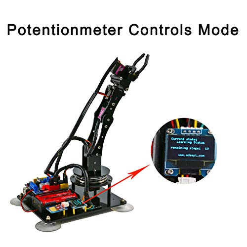 Adeept Arduino Compatible DIY 5-DOF Robotic Arm Kit for Arduino UNO R3 | STEAM Robot Arm Kit with Arduino and Processing Code | with PDF Tutorial via Download Link by Adeept (Image #2)