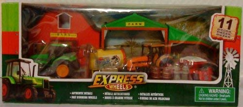 Express Wheels Farm Playset 11 Pc, Age 3+ (Express Wheels)