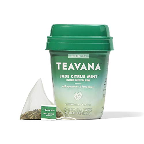 Teavana Jade Citrus Mint, Green Tea With Spearmint and Lemongrass, 60 Count (4 packs of 15 sachets) -  Starbucks Coffee
