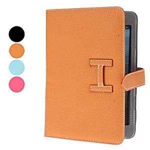 Lichee Pattern PU Leather Case with Stand for iPad mini , Black
