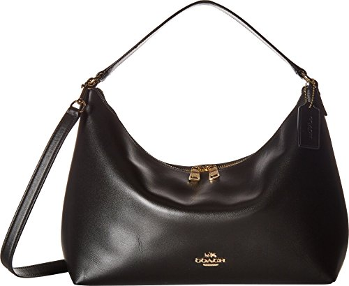 COACH Women's Pebbled Leather East/West Celeste Convertible Hobo Im/Black One Size (Hobo Coach Handbags)