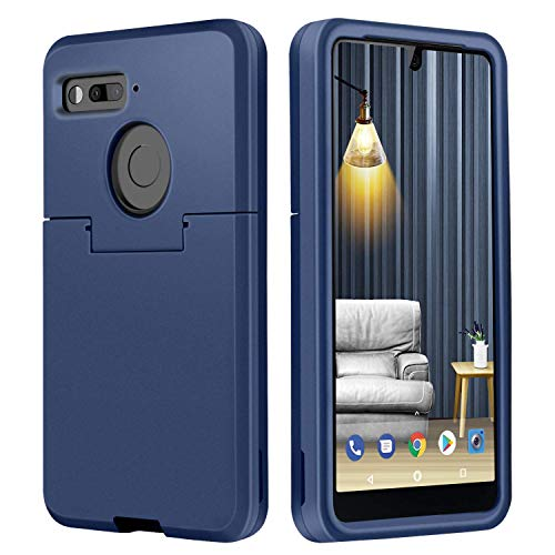 Essential PH-1 Case,DUEDUE Shockproof 3 in 1 Hybrid Hard PC Cover Soft TPU Bumper Heavy Duty Anti-Scratch Full Body Protective Slim Cases for Essential Phone PH-1 for Men/Boys,Navy Blue
