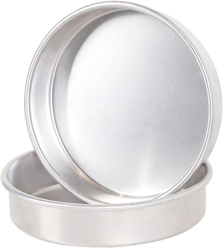 BoxedHome Pure Aluminum Baking Pans Bakeware Set Even-Heating Cake Pan Set (2-Pack 9'' Round)