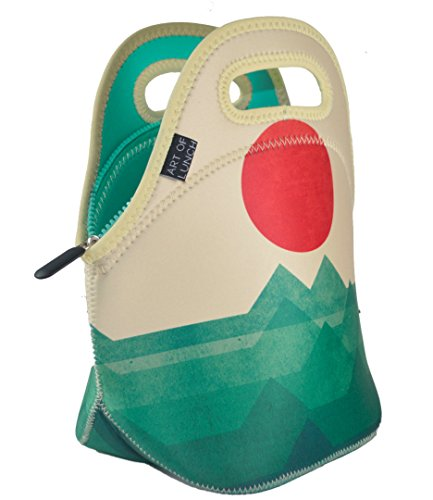 Art of Lunch Insulated Neoprene Lunch Bag for Women, Men and Kids - Reusable Soft Lunch Tote for Work and School - Design by Budi Kwan (Indonesia) - The Ocean, The Sea, The Wave