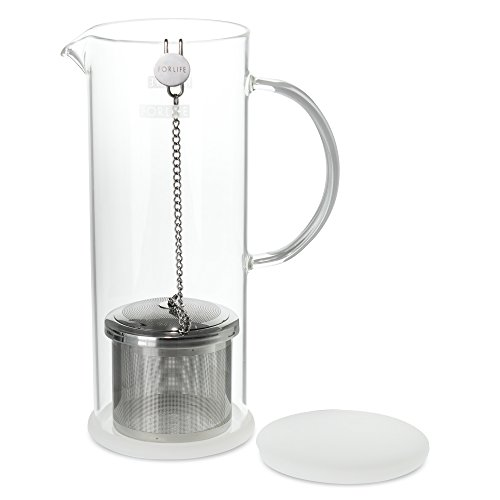 FORLIFE LUCENT Glass Iced Tea Jug with Capsule Infuser, 48-Ounce, Frost by FORLIFE (Image #2)