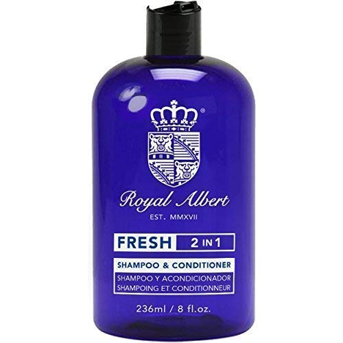 Royal Albert - 2 en 1 Shampoo y Acondicionador FRESH (Menta) - 236ml - Libre de Parabenos - Libre de Crueldad Animal -...