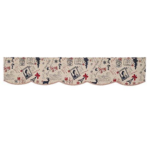 Reversible Stripe Scarf (VHC Brands Joyeux Mantel Scarf 14x72)