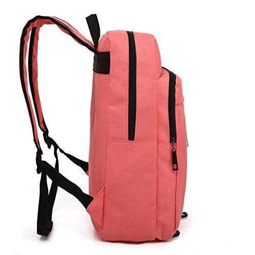 Muchacha Bolso De Hombro Simple El Ocio Los Estudiantes Lona viento De La Escuela Viajes Equipo Mochila Bolso De Escuela Pink