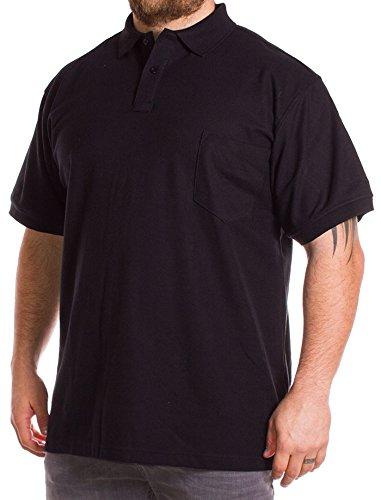 Kam Herren Poloshirt schwarz schwarz XXXX-Large
