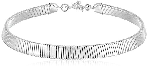 Kenneth Jay Lane Silver Snake Chain Choker Necklace