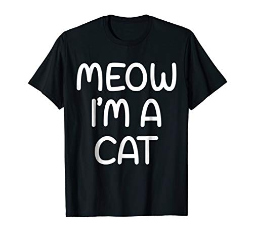 Meow I'm A Cat Halloween Costume Shirt