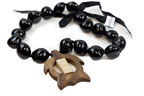 Barbra Collection Hawaiian Style Kukui Nut Hand Painted Necklaces 18 Nuts(Wood (Carved Wood Necklace)
