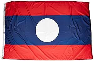 "ANNIN & COMPANY Annin Flagmakers 194594Nylon SolarGuard nyl-GLO Bandera de Laos, 4x 6"""