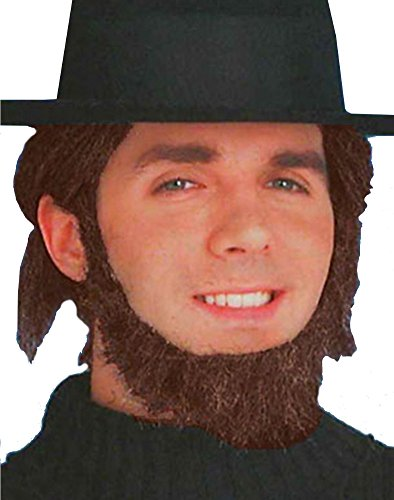 Deluxe Brown Colonial Settler Pilgrim Amish Costume Beard