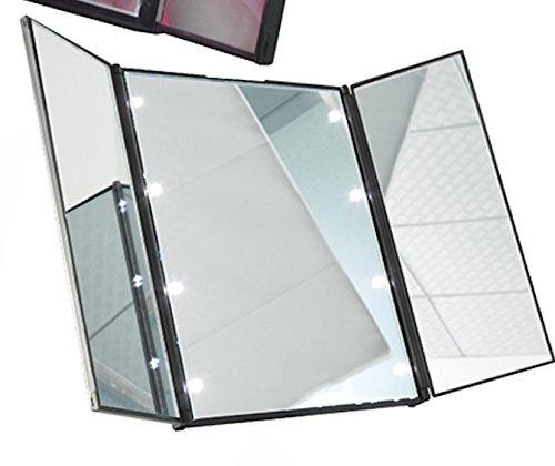 S Led Lighted Mirror 3 Way Mirror Travel Mirror Led Mirror