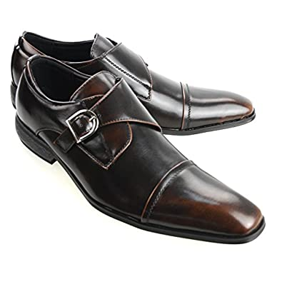 Amazon.com | MM/ONE Oxford shoes Double Monk strap Cap toe