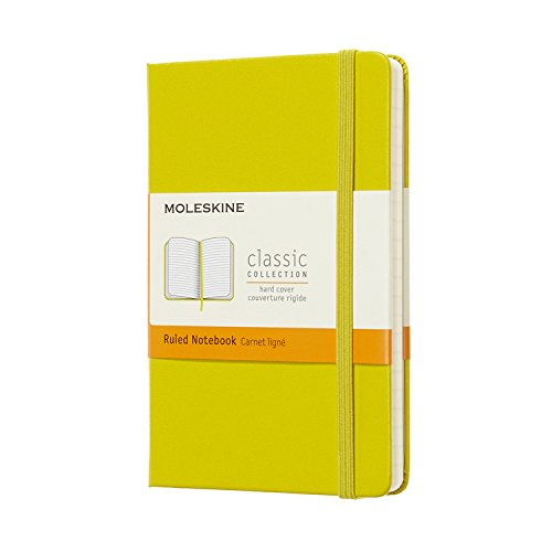 Moleskine Classic Notebook, Hard Cover, Pocket (3.5 x 5.5) Ruled/Lined, Dandelion Yellow