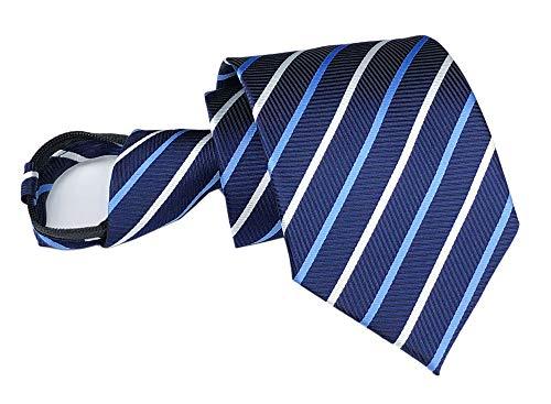 Secdtie Men's Navy Blue White Ties Microfiber Formal Neckties Gifts for Husband