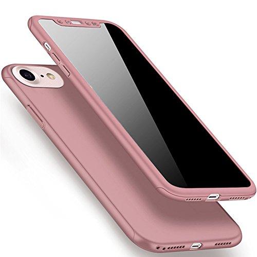 Plastique Hard 6 6S iPhone de PC iPhone Coque Protection Plastique 6S Full Degrés en Coque Plus 6 6 Housse iPhone pour Plus Plus Plus Plus Protection Or 360 Etui rose arrière et 6S Dur Coque Plus body avant 81qfZgU
