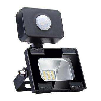Sararoom 10W Foco LED Exterior,Con Sensor Movimiento Proyector LED ...