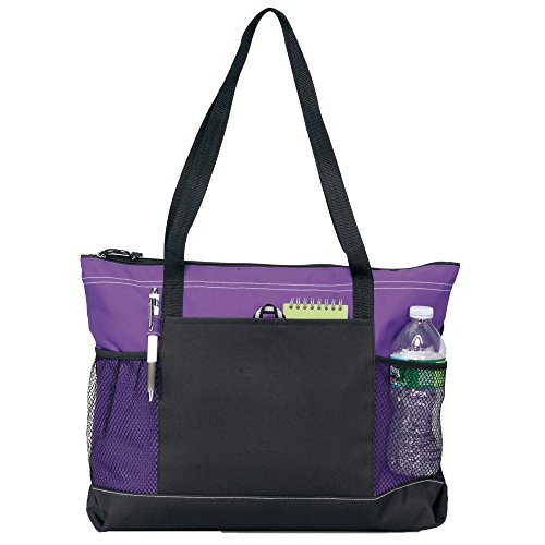 Select Zippered Tote (Assorted Colors) - Can Be Embroidered -