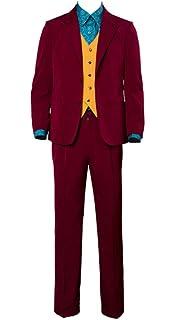 Amazon.com: coskey Joker Costume Suit Arthur Fleck Cosplay ...
