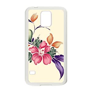 SYYCH Phone case Of Bright Color Flower 2 Cover Case For Samsung Galaxy S5 i9600