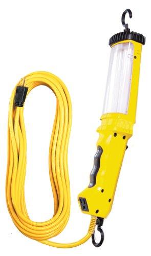 Voltec 08-00270 16/3 SJT 26-Watt Fluorescent Angle Light, 25-Foot, Yellow (Plug Compact 26w Fluorescent)