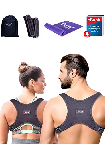 2019 Back Straightener Posture Corrector for Women and Men - Shoulder Brace Back Posture Corrector for Men - Upper Back Support and Neck Pain Relief - Under Clothes Back Brace for Neck & Shoulder (Best Woman's Body In The World)