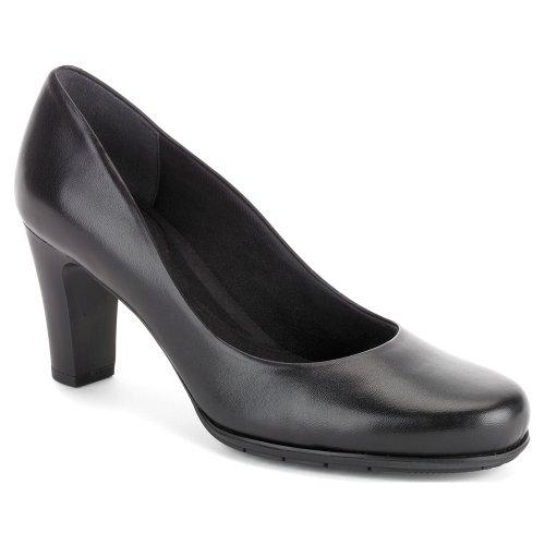 Rockport Women's Total Motion 75mm Pump,Black Smooth,9 M (Rockport Womens Heels)
