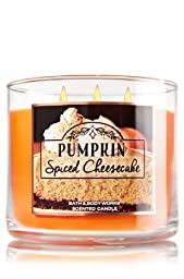 Bath & Body Works 2016 style Pumpkin Spiced Cheesecake 3-Wick Candle 14.5 oz