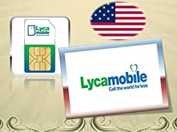 LycaMobile USA prepaid sim card, loaded with $39 plan, Unlimited Talk & Text & Data