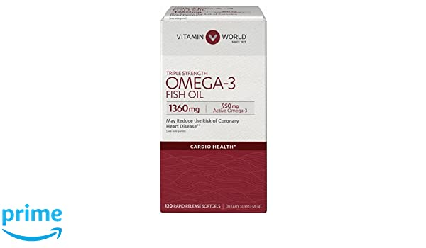 Amazon.com: Vitamin World triple-strength-omega-3-fish-oil-1360-mg.-120 Softgels: Health & Personal Care