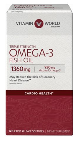 Vitamin World triple-strength-omega-3-fish-oil-1360-