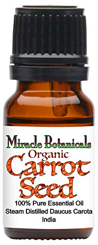 Miracle Botanicals Organic Carrot Seed Essential Oil - 100% Pure Daucus Carota - Therapeutic Grade - 10ml -