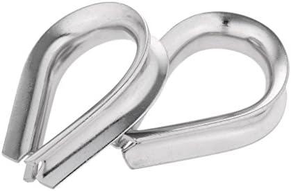 Amuzocity 2 Stück Edelstahl Herzförmige Kabel Kauschen Drahtseilbeschlag - Für Seil Ø 10mm