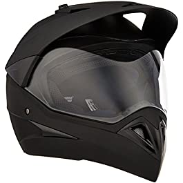Studds Motocross Plain Full Face Helmet with Plain Visor (Matt Black, L)