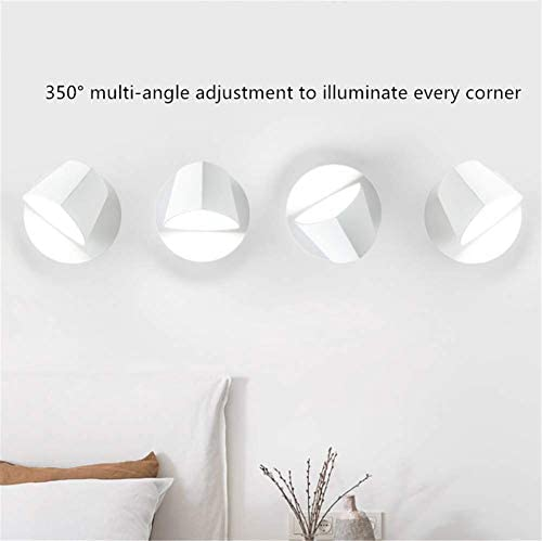 Wall Light Fixtures Indoor Postmodern Nordic Simple Creative Rotatable Adjustable Prismatic Shade White Wrought Iron Wall Lamp LED 5W Neutral Light