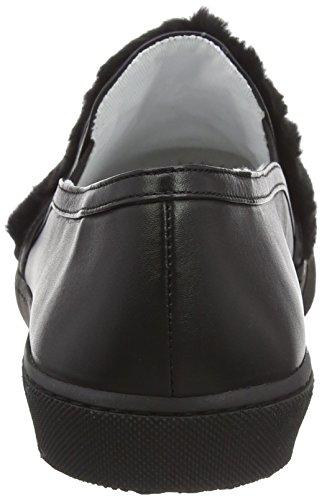 Moschino Damen Scarpad Roma20 Ecofur + Vit Zwarte Slipper Zwart (zwarte 100a)